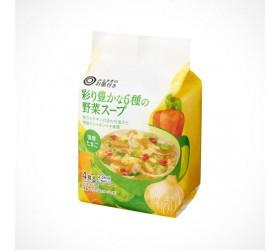 [여러분의 보증]다채로운 6 종의 야채 스프 4개입 1식 23kcal